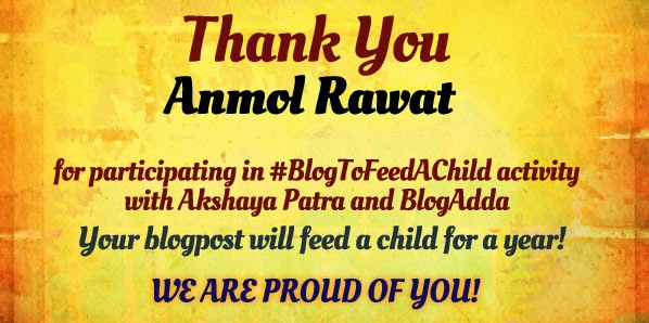 Blog to fee a child - Anmol Rawat
