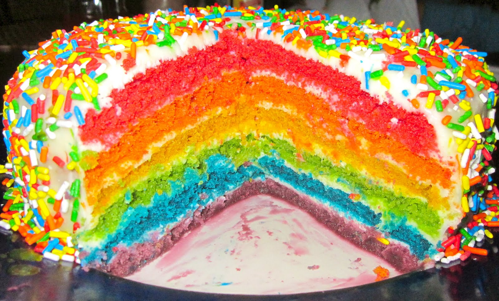 Haute + Heirloom: Rainbow Velvet Cake