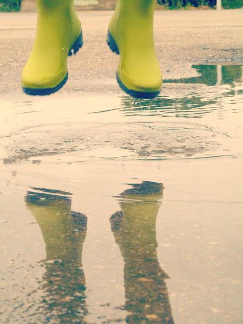 Verde: bajo la lluvia
