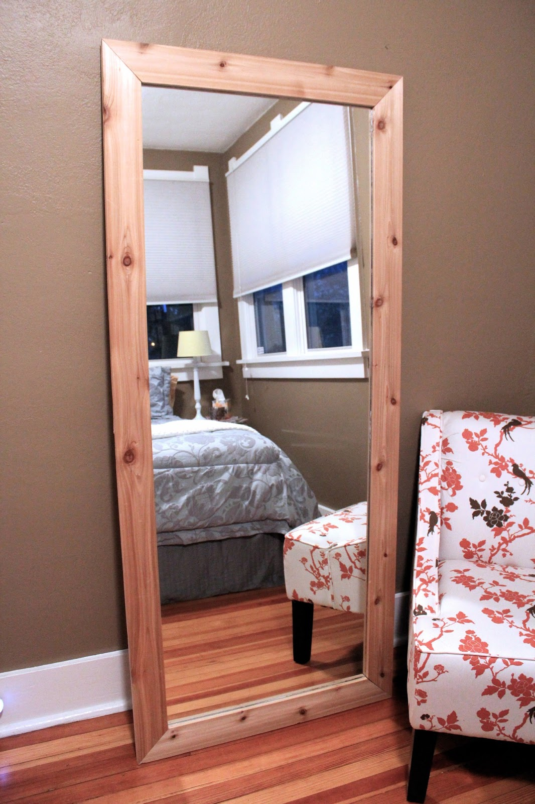 sunlight & sparkle: DIY Leaning Floor Mirror