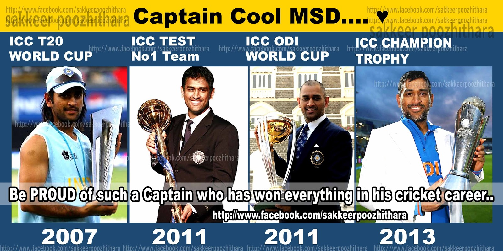 ... icc champion trophy 2013, ICC T20 WORLD CUP 2007 ,ICC WORLD CUP 2011
