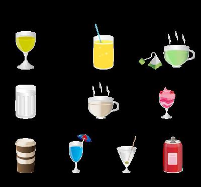 تحميل أيقونات و رموز المشربات مجانا { Vector / PNG }