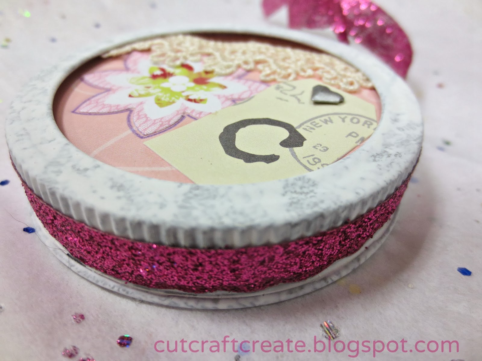 cut craft create canning lid ornaments