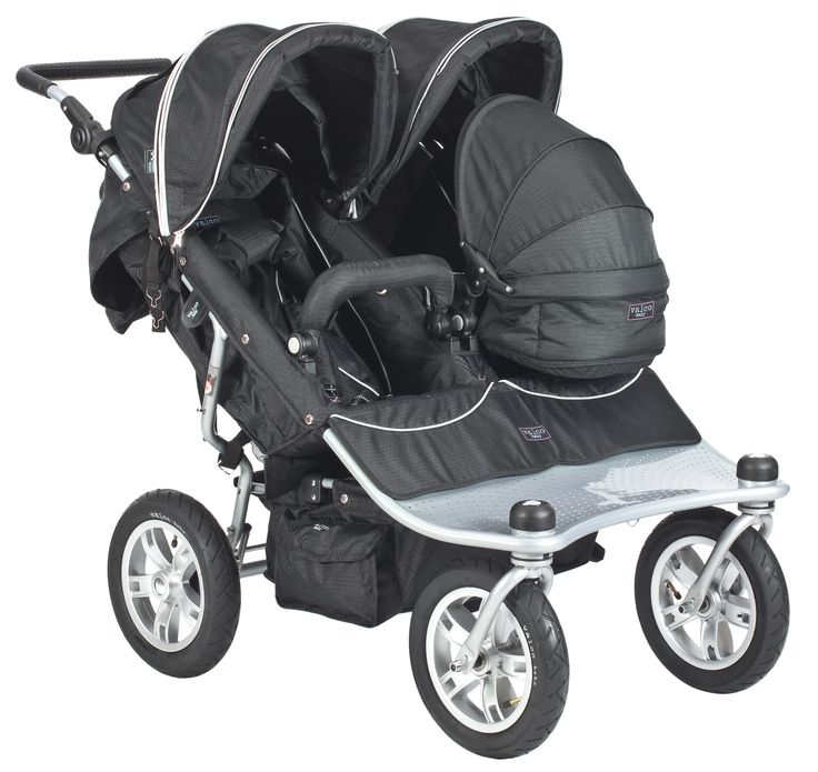 Double Jogging Stroller With Carseat Combo