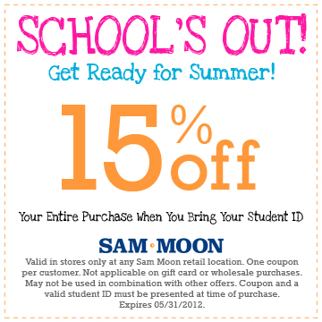 Sam moon trading coupons