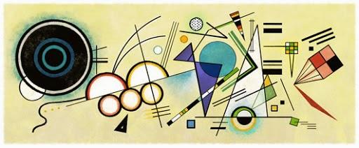 Wassily Kandinsky's 148th Birthday Google Doodle