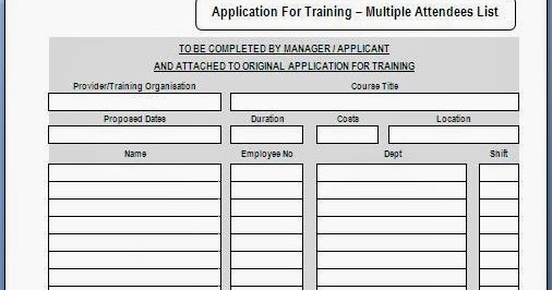 Training Request Form. Employee Training Request Form Sample