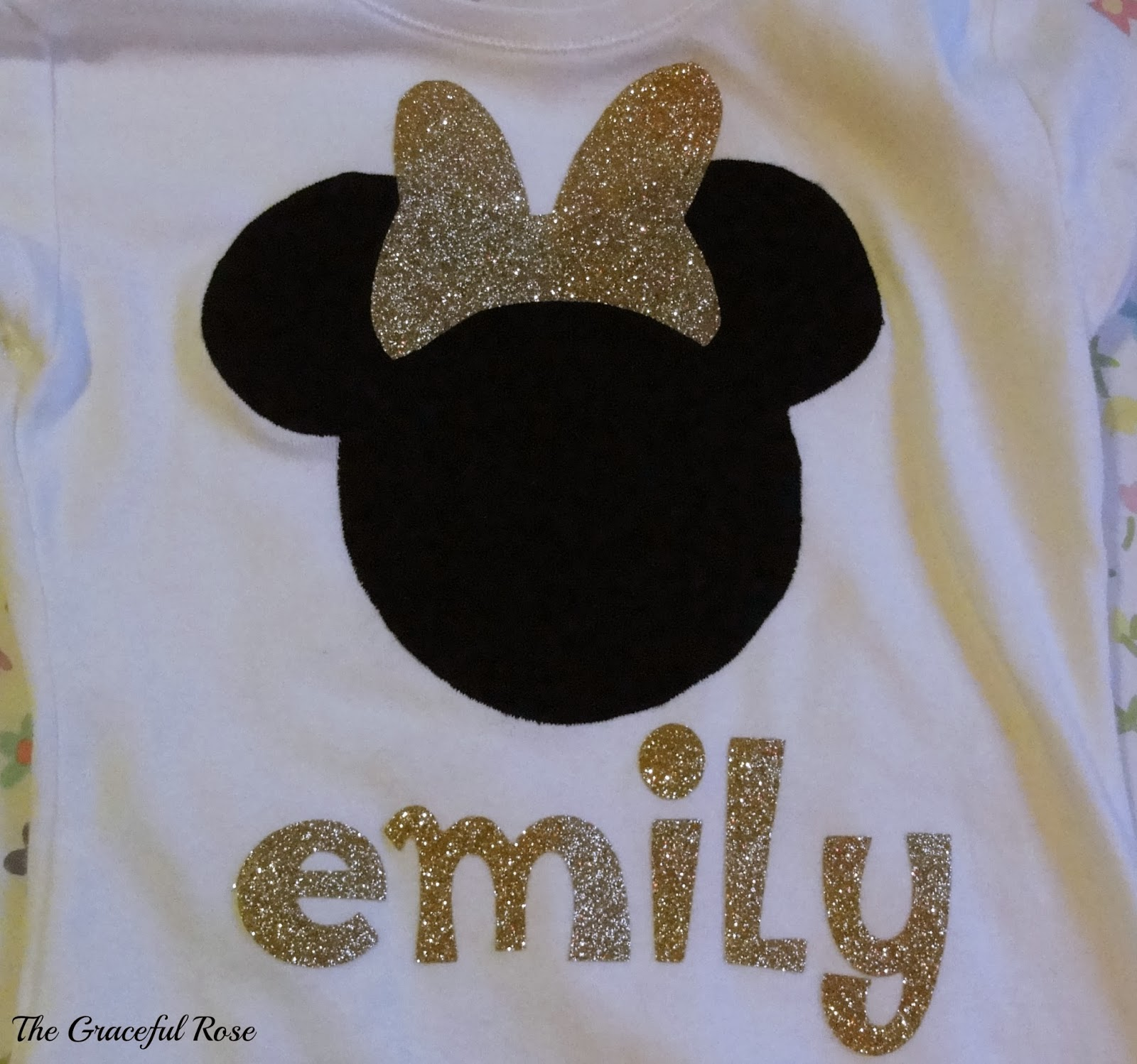 The Graceful Rose Minnie Mouse Shirt Using Cricut Iron On