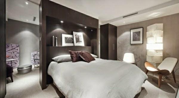 Schlafzimmer Einrichten Bett Kleiderschrank Kopfende
