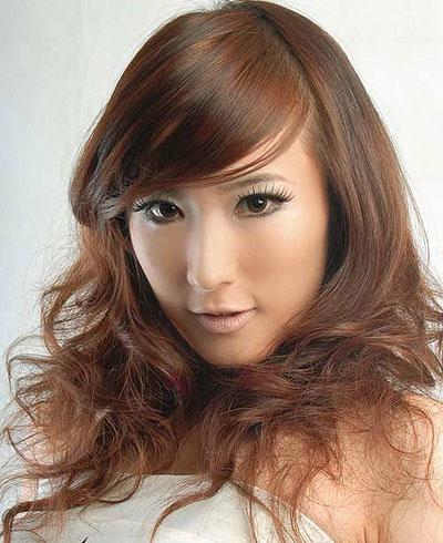 Trendy hair style asian
