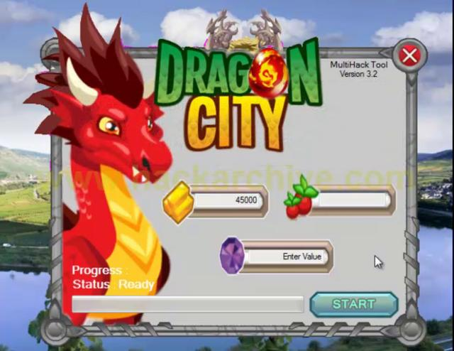 The screenshot of DragonCity Hack)