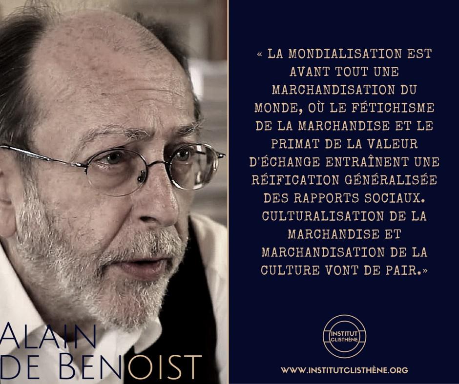Citation d'Alain de Benoist proposée par l'Institut Clisthène
