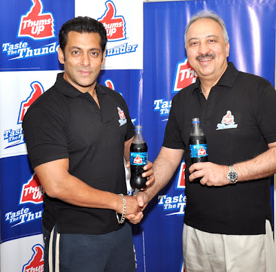 Salman Khan endorses Thums Up