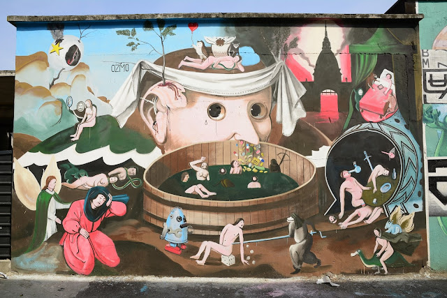 Ozmo recently stopped by the lovely city of Turin in Italy where he was invited by Alternavite Karming Association to work his magic on a new mural.