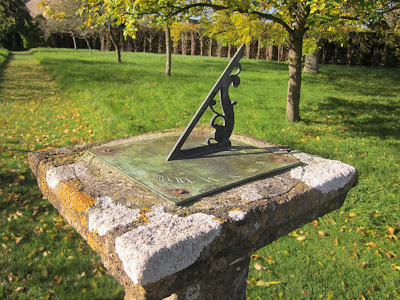 Sundial in the orchard