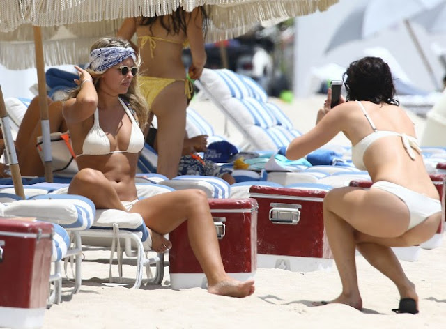 Natasha Oakley in Bikini on Miami Beach