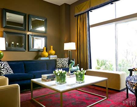 Purcell quality color palettes - Blue and orange color scheme for living room ...