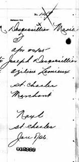 Lina Desgroseilliers birth registration 1905