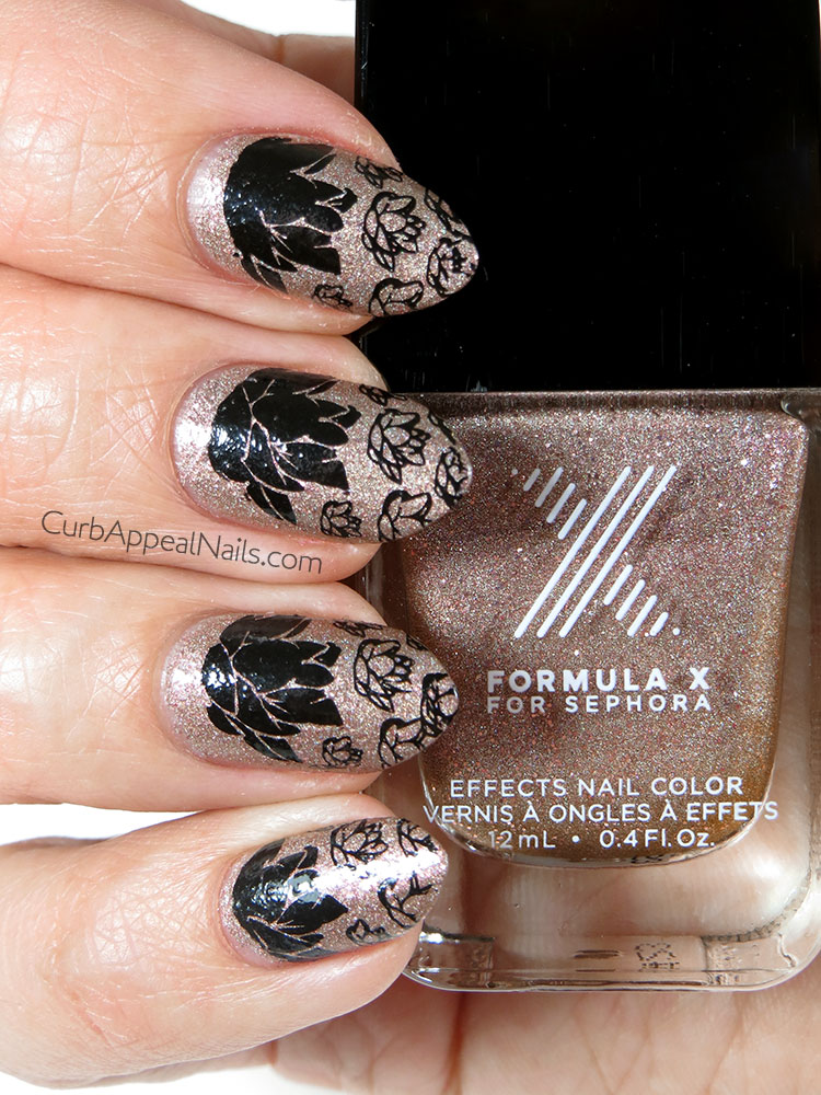 Formula X Ur Square Stamped with Lotus Flowers