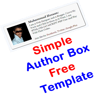 Simple Author Box Free Template For Blog And Website