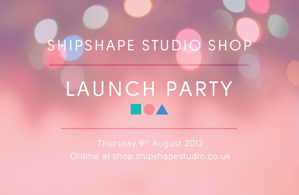 shipshape studio shop launch party - Launch Party Invitation
