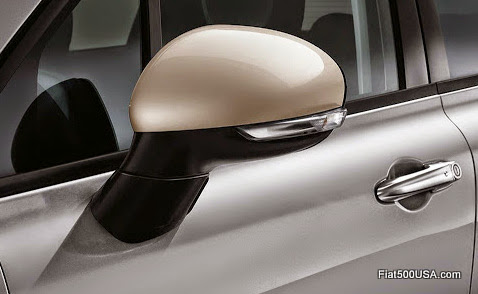 Fiat 500X Side View Mirror with Supplemental Turn Signal