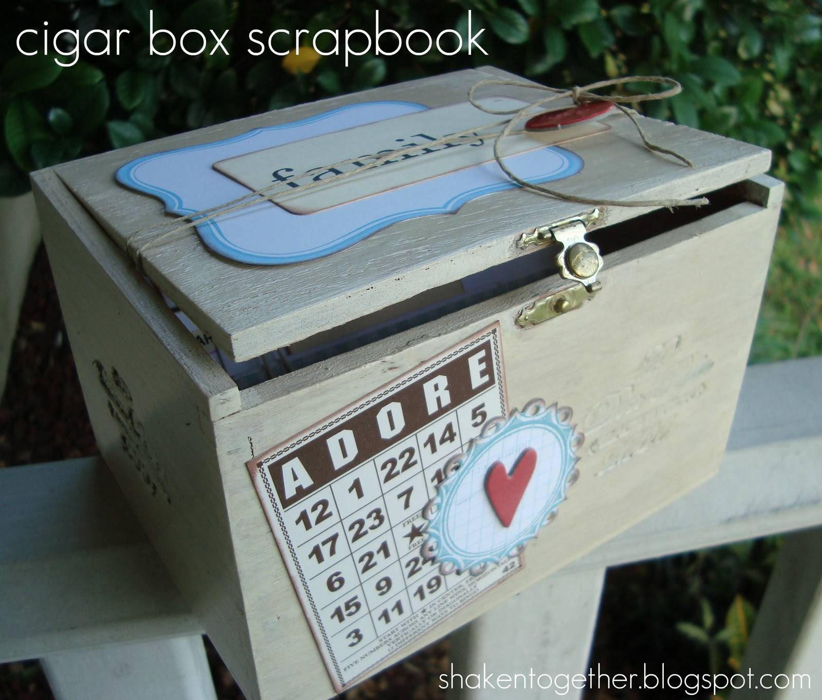 Create This Cigar Box Scrapbook Shaken Together