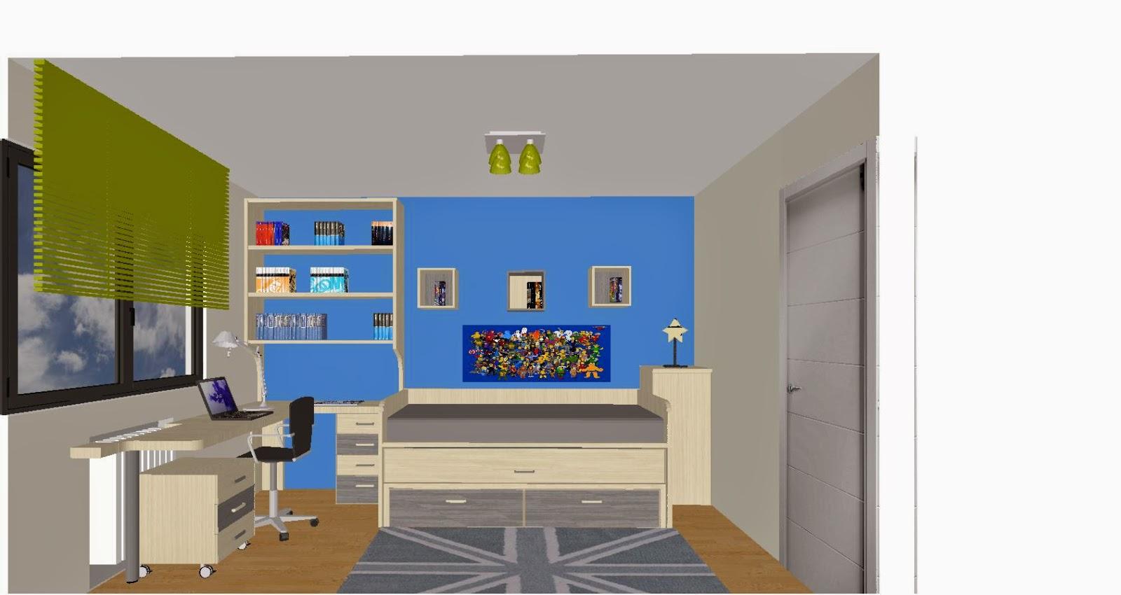 5 premisas para amueblar los dormitorios juveniles - Como sacar los metros cuadrados de una habitacion ...