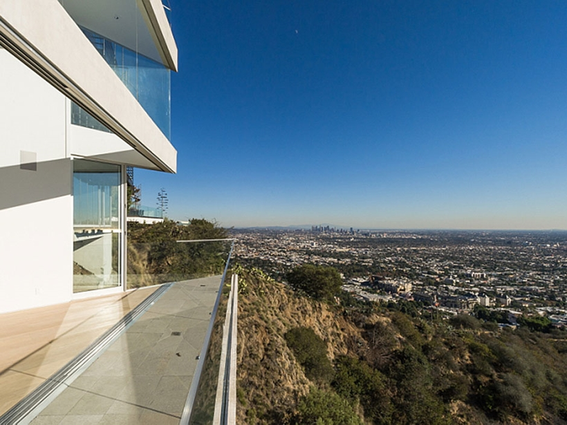 View from Sharp modern home on Sunset Strip