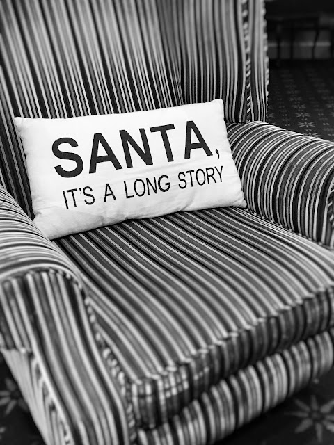 Santa It's A Long Story, Christmas Cushion