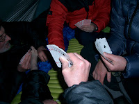 Al's Casino - playing cards in Alan's tent