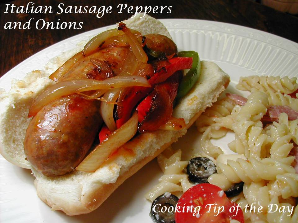 "Italian Sausage Peppers and Onions… a great ""street festival ..."