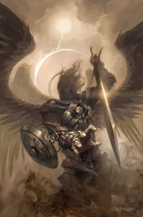 Peter Mohrbacher deviantart illustrations fantasy dark card games magic gathering angels