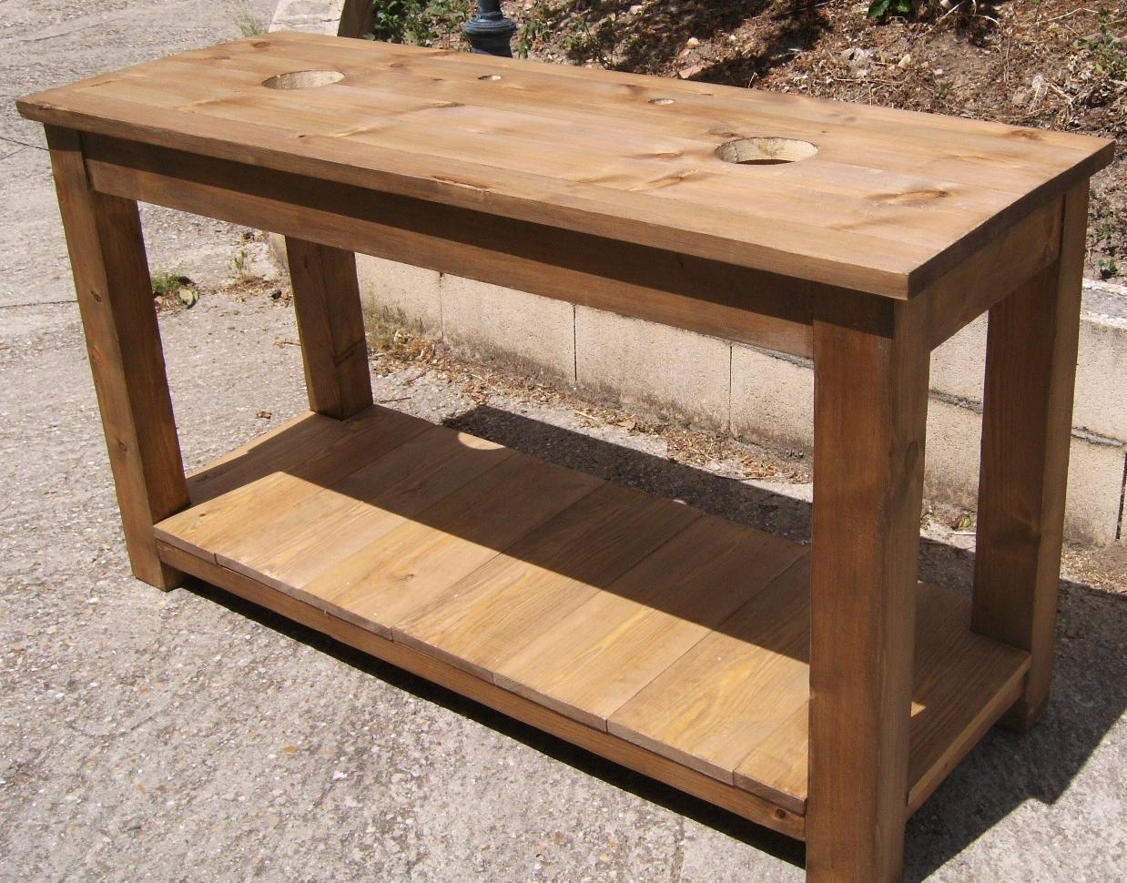 Mesa lavabo de madera dise o y estilo para el ba o - Muebles de lavabo rusticos ...