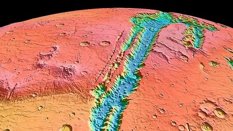 Huellas de agua en Marte