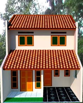 contoh gambar renovasi rumah sederhana type 78, 2 lantai
