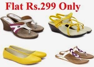 Buy any Women's Portia Footwear (Flats, Heels, Wedges, Bellies) just for Rs.299 @ Flipkart (Valid till tomorrow 12.00PM)