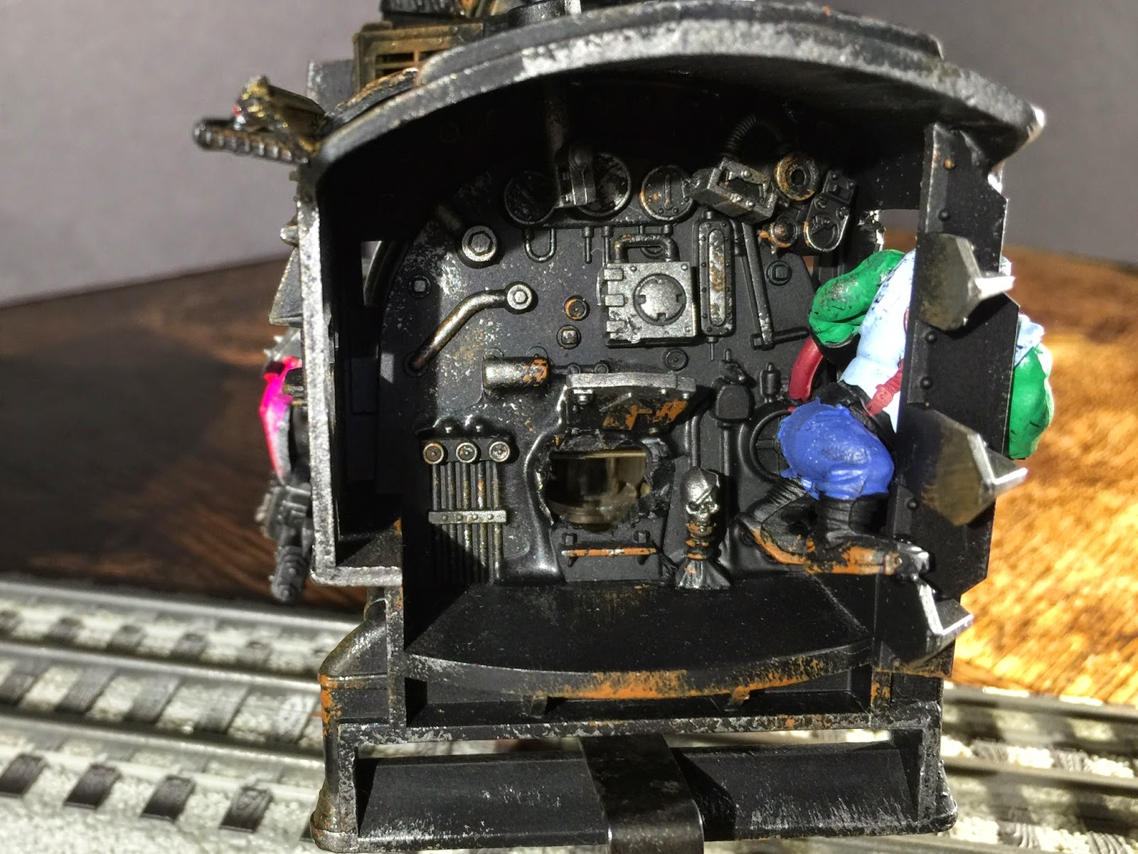 Dakka Chugga Cab; Ork Controls; Ork Boiler; Battle Gaming One