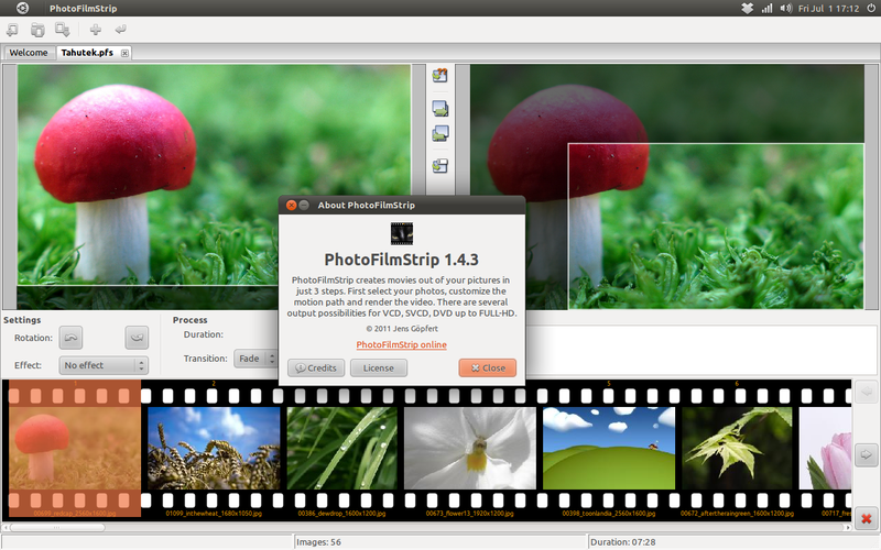 PhotoFilmStrip di Ubuntu 11.04 Natty Narwhal
