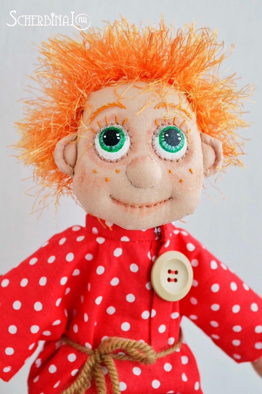 текстильная кукла Домовёнок, ручная работа