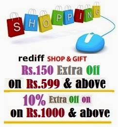 Rediff Shopping Dec'14 Coupon: Rs.150 off on Rs.599 & above |Flat 10% Off on Any Value (Valid on All Products)