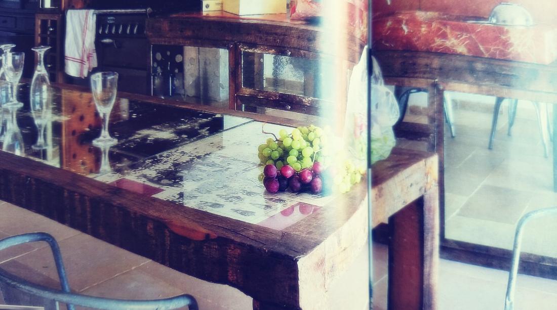 DRewniany stół rustykalna jadalnia,