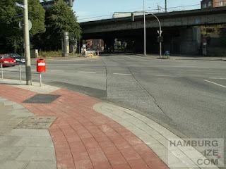 Kreuzung Kieler Straße / Strese - Radfurt im Bau