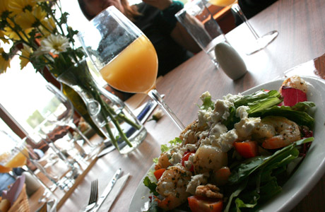 ensalada, jugo, comida saludable