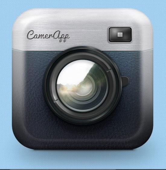 Draw an iOS App Camera Icon
