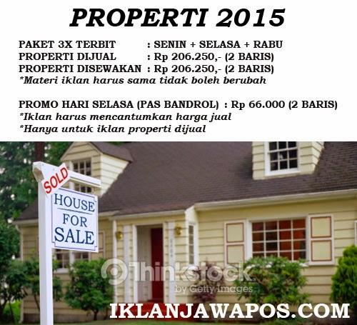 Iklan Baris Jawa Pos Murah 2015 Paket Properti