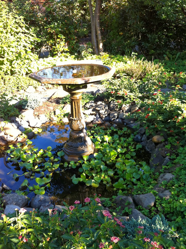 liked this repurposed bird bath made into a fountain. Go to the  title=