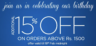 Myntra Birthday Offer: Additional 15% OFF on Already upto 60% Discounted Products