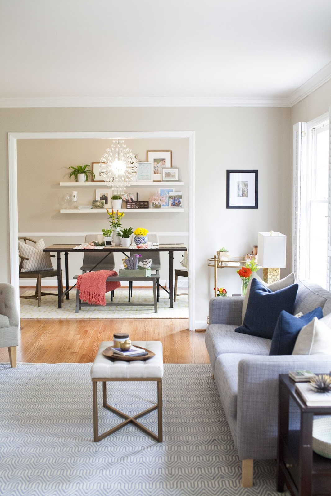 Styling A Modern Traditional Living Room