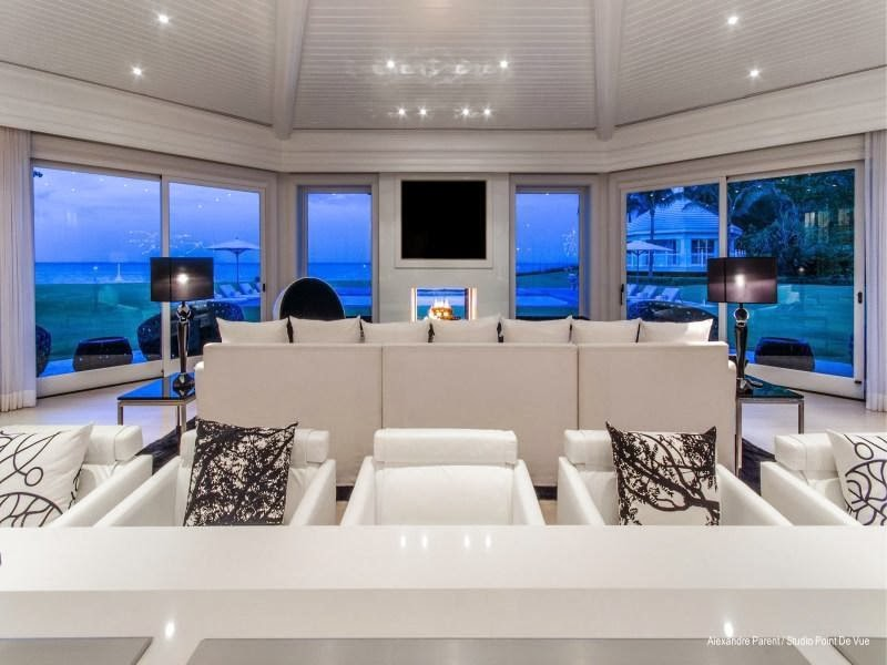 Ocean view from Custom built celebrity home for Celine Dion